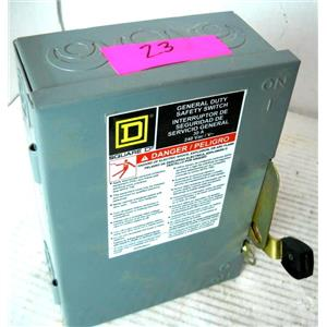 SQUARE D GROUPE SCHNEIDER D221N GENERAL DUTY SAFETY DISCONNECT SWITCH, SERIES E