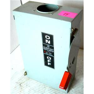 GENERAL ELECTRIC GE THN3361R SAFETY SWITCH, DISCONNECT SWITCH, FUSIBLE HD, 240/