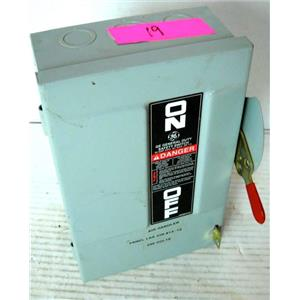 GENERAL ELECTRIC GE TG3221 SAFETY DISCONNECT SWITCH, 30A, 3HP, NEMA TYPE 1, 240