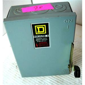 GE GENERAL ELECTRIC DU321 DISCONNECT SWITCH, 30A 7.5HP, NEMA TYPE 1, 240VAC, 3W