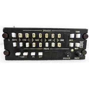 """KING RADIO CORP 071-1087-01 KA119 KA 119 AUDIO CONTROL PANEL, TAGGED """"CONDITION"""