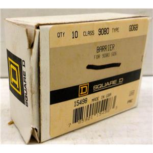 SQUARE D 9080-GD6B 9080GD6B TERMINAL BLOCK END BARRIERS, CLASS 9080 NEW QTY 7