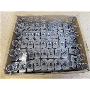 Box of 100 T & B Thomas & Betts A100 1/4 Regular Spring Nuts Steel Galvanized