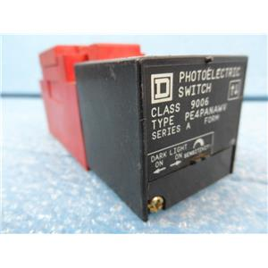 Square D PhotoElectric Switch Class 9006 Type PE4PANAWV
