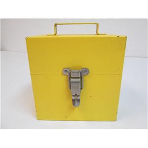 EIL H1990 Noisy Noise Tester - Yellow Metal Locked Box - Unit inside is Tester