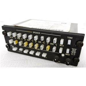 "KING RADIO 071-1087-01 KA119 AUDIO CONTROL PANEL, TAGGED ""CONDITION RP, REMOVED"