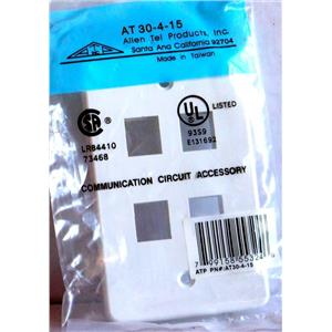 ALLEN TEL AT30-4-15 FOUR PORT WHITE FACEPLATE QTY 4 NEW