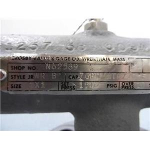 """Crosby Relief Valve Style JR-WR B Size 1"""" X 1"""""""