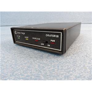 Cetec Vega Orator III Microphone TransmitterReceiver Frequency 169.505