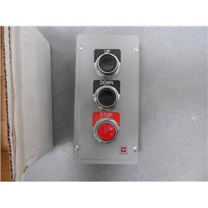 Cutler Hammer 10250T3615 Three Button Control Station Up, Down, And Stop