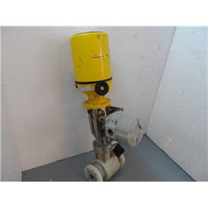 "Kammer Flowserve Actuator/Control Valve 0323E3-P W/1"" Flow Tube & Transmitter"