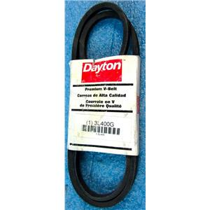 "DAYTON 3L400G PREMIUM V-BELT, 40"" OUTSIDE LENGTH, 3/8"" TOP WIDTH, 3L TYPE, 7/32"