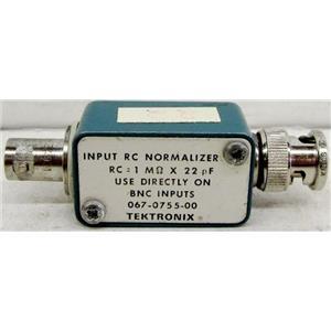 TEKTRONIX 067-0755-00 INPUT RC NORMALIZER, RC=1M OHM x 22 pF, USE DIRECTLY ON B
