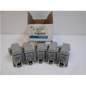 "Box of 5 Thomas & Betts BB216 Rectangular Connector Box Base Mount, 3/4"" Entry"
