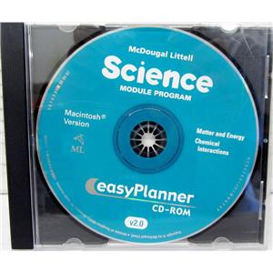 MAC EASYPLANNER MCDOUGAL LITTELL SCIENCE MODULE PROGRAM, MATTER AND ENERGY CHEM