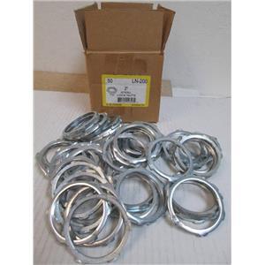 """50 L.H. DOTTIE LN-200  2"""" Steel / Zinc Plated Rigid/IMC/EMT Conduit Locknuts NEW"""