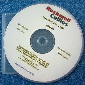 #2 ROCKWELL COLLINS CHECKLIST EDITOR V3.00, KING AIR, 815-5453-004 815-6175-004