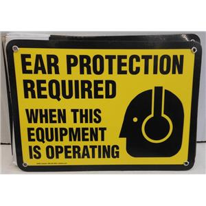 """EMEDCO 33490 """"EAR PROTECTION REQUIRED WHEN THIS EQUIPMENT IS OPERATION"""