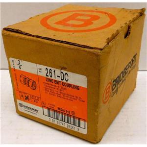 """*BOX OF 19* BRIDGEPORT 261-DC ZINC EMT COUPLINGS, 3/4"""", COMPRESSION COUPLING, C"""