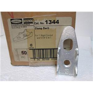 """Lot of 50 HUBBELL-RACO 1344 Clamp Back 1"""" Rigid / IMC and 1-1/4"""" EMT  **New**"""