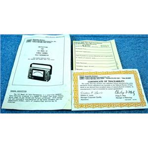 YSI 000890 INSTRUCTIONS FOR MODEL 43 SINGLE CHANNEL TELE-THERMOMETER, YELLOW SP