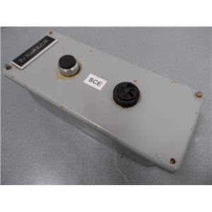 SCE 2-Hole Metal Push Button Enclosure With 1 Button And 1 Buzzer