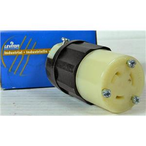 LEVITON 2323 NEMA POWER PLUG 2 POLE 3 WIRE GROUNDING CONNECTOR LOCKING NEW
