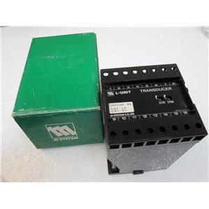 M SYSTEM Watt L-Unit Transducer LWT-10A0-F-X  120V AC  0-5000W1480V/SA 4-20mA DC