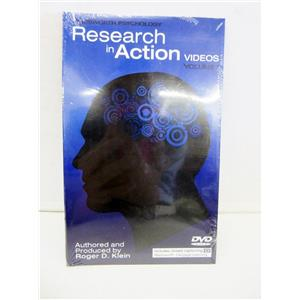 WADSWORTH PSYCHOLOGY CENGAGE LEARNING RESEARCH IN ACTION VIDEOS VOLUME 1 DVD AU