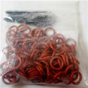 *PACK OF 100* CMS FIELD PRODUCTS 10757-100 O-RINGS SEALS, .301mm X .07mm - NEW