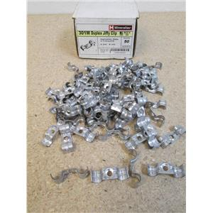 """Box of 78 MINERALLAC CULLY 301M Duplex Jiffy Clip for Cable or Tubing O.D .375"""""""