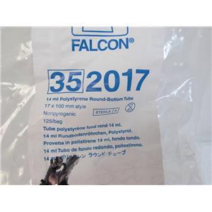 Becton Dickinson/ Falcon 352017 Polystyrene Round-Bottom Tube 14ml 125/bag