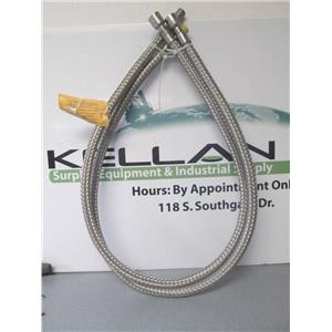 "(2) Metal Bellows 79764 75 PSIG Connectors w/ 54"" SS Braided Hose"