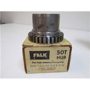 FALK 704619   50T Hub    Bore 1.625    KW 3/8 x 3/16   C18    New in Box