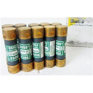 *LOT OF 10* COOPER BUSSMANN BUSS NON-35 ONE TIME FUSES, 35A 35 AMP - NEW OLD ST
