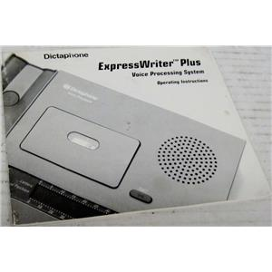 DICTAPHONE MANUAL FOR EXPRESSWRITER PLUS VOICE PROCESSING SYSTEM, 1750 2750 375