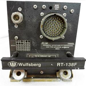 WULFSBERG ELECTRONICS 400-014525-00 RT-138F VHF FLEXCOMM FM RECEIVER TRANSCEIVE