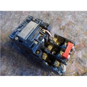 Square D Nema Size 0 Contactor Class 8536,Type SBO2, Form S, Series A, 600V Max.