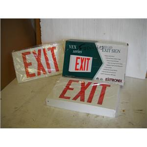 Exitronix Vex Series Exit Sign Red Led New VEX/U/BP/WB/WH