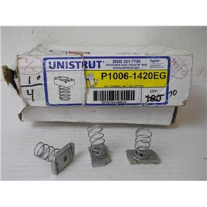 70 ea. Tyco Unistrut P1006-1420EG 1/4 in. -20 Channel Nut With Spring