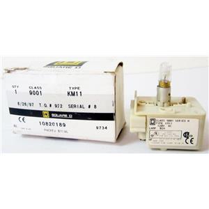 SQUARE D 9001KM11 30mm LIGHT MODULE, PILOT LAMP, T-K+SK+KX, 120V, CLASS 9001 TY