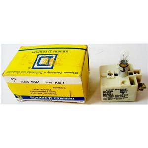 SQUARE D 9001KM1 LAMP MODULE, TRANSFORMER TYPE, 30mm, 120VAC TO 6VAC, CLASS 900