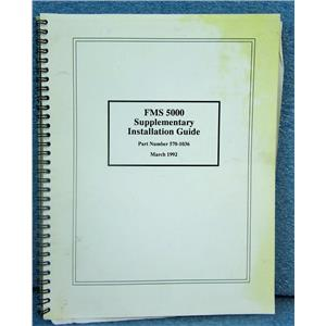 ARNAV 570-1036 SUPPLEMENTARY INSTALLATION GUIDE FOR FMS 5000/GPS-XXX, DATED MAR