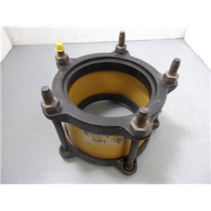 "Romac 501 6"" Ductile Iron Pipe Coupling New 6 inch"