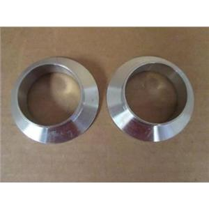 "(2) IdealVac  P101273  ISO NW50 SS Weld Socket Flange Fittings, for 2"" OD Tubing"