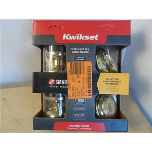 Kwikset Tustin Keyed Entry/Deadbolt Set 991J 3 SMT CP K4 P/N 99910-032 Gold