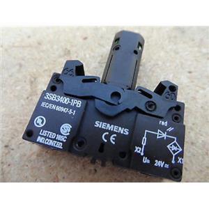 Siemens 3SB3400-1PM Led Lamp Holder 24V Red New