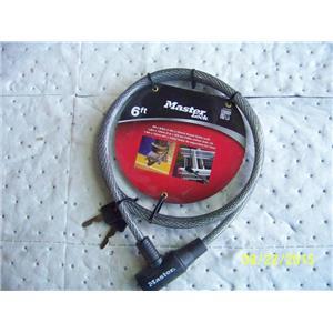 Master Lock 8154DPF 6 Foot Cable/Keyed Lock 071649042713
