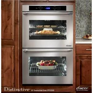 "DACOR Distinctive DTO230FS 30"" Double Electric Wall Oven Stainless Details"