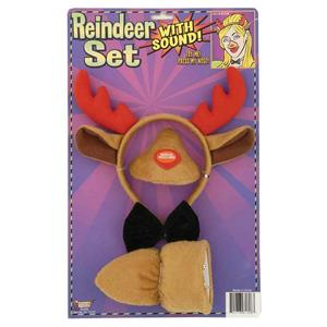 Forum Novelties Animal Costume Set Reindeer Ears Nose Tail with Sound Effects